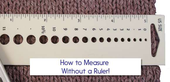 How to Measure without a ruler