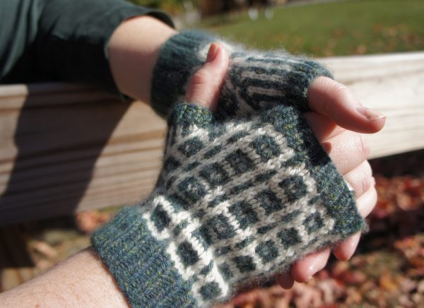 Box and Beam Wrist Warmers