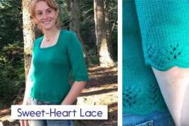 Sweet Heart Lace Pullover