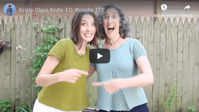 Kristy Glass Knits: Roselle Tee KAL FO (Finished Object)