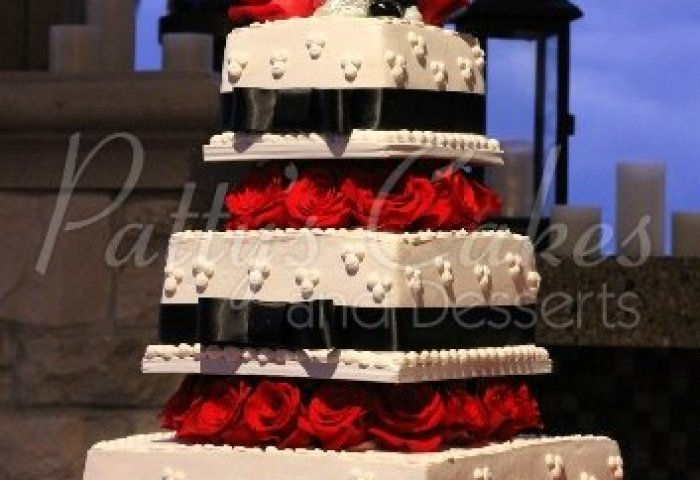 4 Tier Wedding Cakes Archives Pattys Cakes And Desserts