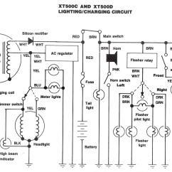 1981 Yamaha Xt250 Wiring Diagram Central Heating Mid Position Valve Tt500 Honda Ft500