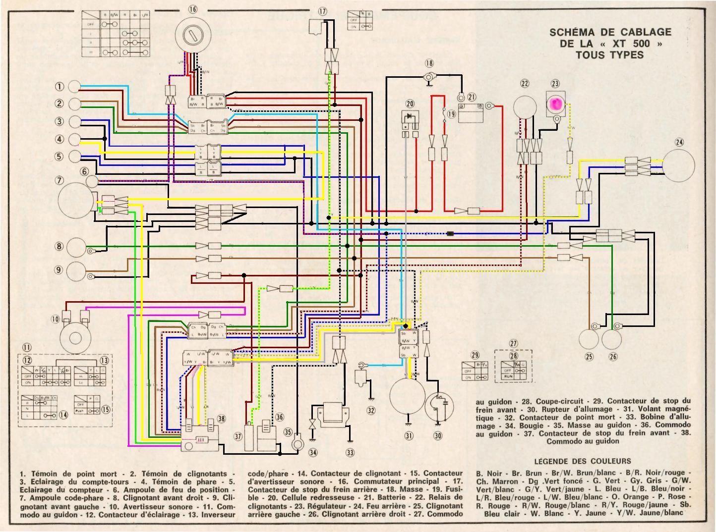 yamaha xt 250 wiring diagram stress strain for ductile material 1976 xt500 diagrams repair scheme