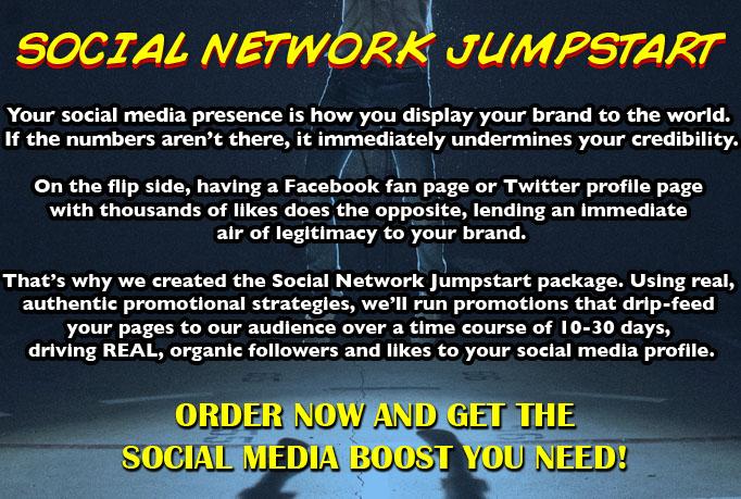 SOCIAL NETWORK JUMPSTART PACKAGE