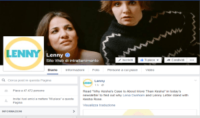 Página Lenny no Facebook