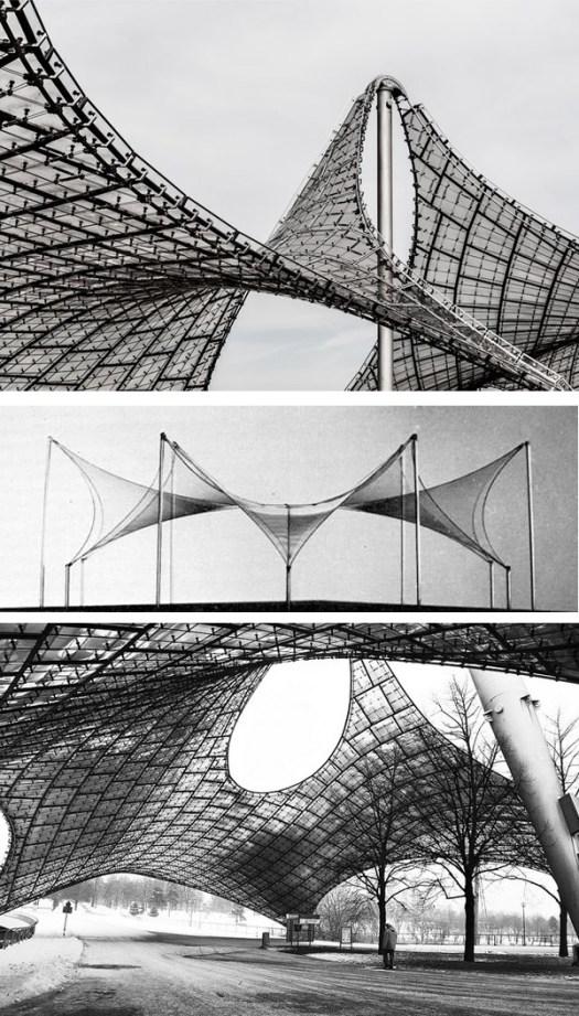 Frei Otto tensoestructura structures en paukf