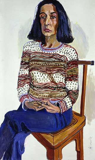 Marisol-1981-by-Alice-Neel-on-Paukf-paintings-artist-female-women-i-admire-womeniadmire