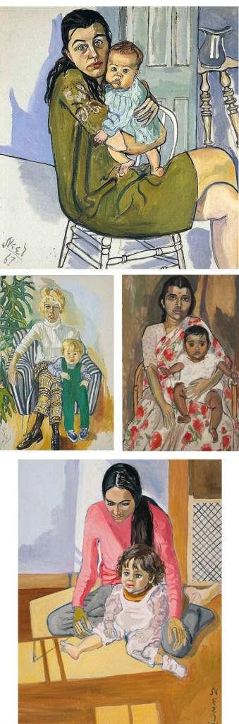 alice neel maternity motherhood maternidad madre hijo on paukf paula teruel pintura painture fine art portrait retrato