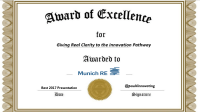 Munich Re Award Of Excellence   Paul4innovating's ...