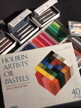 My Holbein Oil Pastel Set and Sennelier Oil Pastels