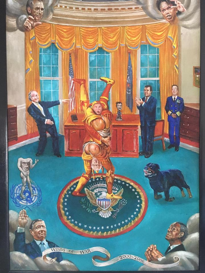 """""""Winds of War:Bush and Cheney planning the Iraq War in the Oval Office"""" by Jacques Deschamps Derge"""