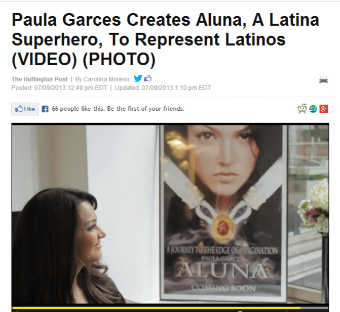 Huffington Post Exclusive Interview with Actress Paula Garces on Aluna