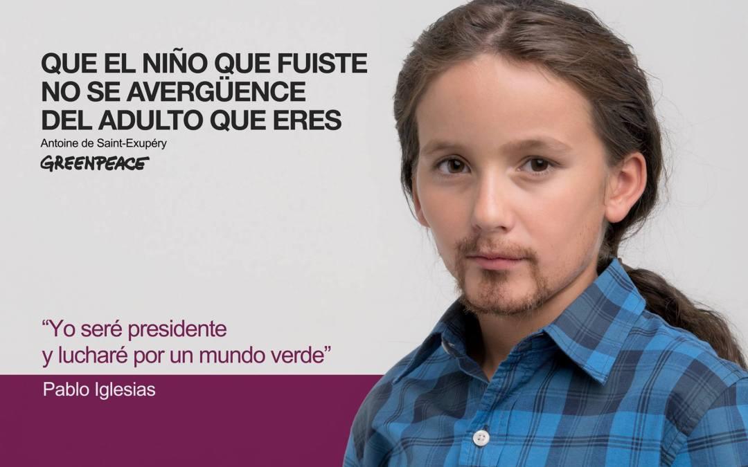Nueva acción de Greenpeace España dirigida a los políticos