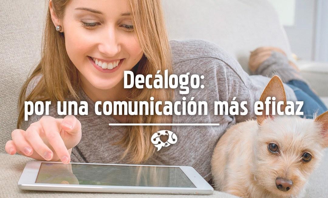 Decálogo 'por una comunicación más eficaz'