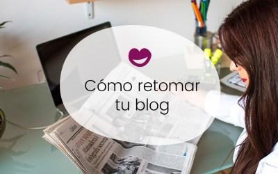 Volver a empezar un blog