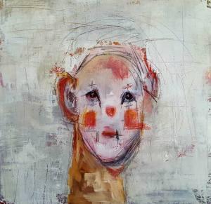 The Sad Clown (20 x 20)
