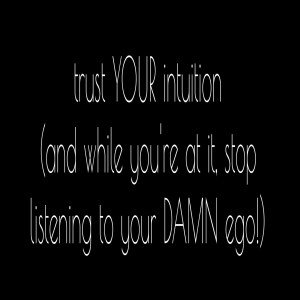 listening to intuition