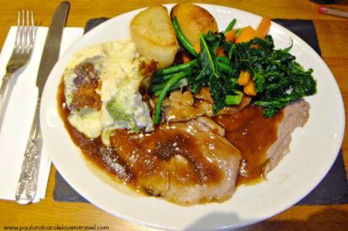 Edgemoor Inn Sunday lunch Gloucestershire England Paul Carole