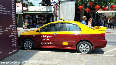 Koh Samui Thailand check out the cost of transport including taxi songthaew and navigo  learn how to save money on getting around the island #thailand #samui #cost #save #money #navigo #taxi #songthaew #paulandcarole #travel #information #guide