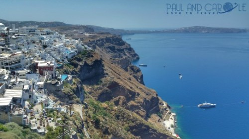 fira thira santorini cruise port review information greece greek island Cyclades Aegean Sea