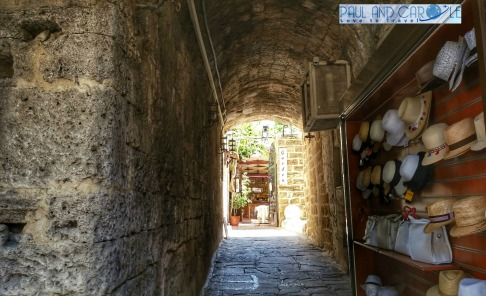 rhodes greece old town shopping