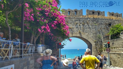 rhodes town cruise port review st catherines gate old town walls