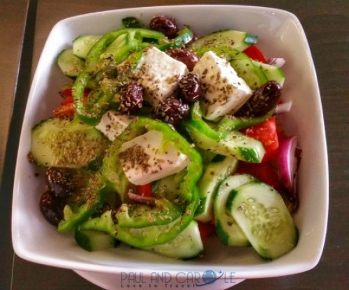 chania crete cruise port destination information guide greek salad