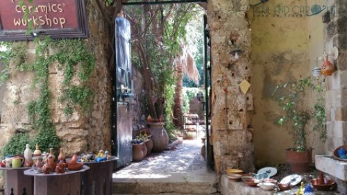 chania crete cruise port destination information guide pottery shop