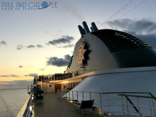 Deck 13 a great spot for watching the sunset! msc opera cruise ship review