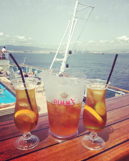 Paul Carole Love Travel P&O cruises guest post cruise blogger alcohol pimm's