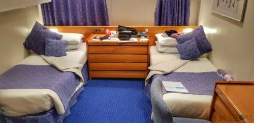CMV Marco Polo Cruise ship standard outside cabin 623 #CMV #cruising #maritime #voyages #marcopolo #marco #polo #cruise #reviews #cabin #standard #outside #62s #amunsden #deck #promenade