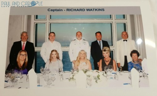 Captains Table on the Marella Explorer 2 Cruise Ship Review    #cruise #ChooseCruise #cruising #marella #MarellaExplorer2 #TUI #explorer #review