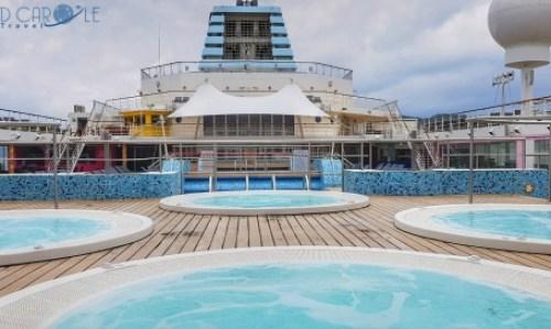 Whirlpools deck 11 Marella Explorer 2 Cruise Ship #cruise #ChooseCruise #cruising #marella #MarellaExplorer2 #TUI #explorer #review