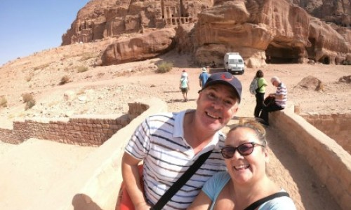 Rose Red City Petra Paul and Carole #paulandcarole #roseredcity #marelladiscovery #cruise #excursions