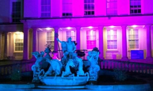 The fountain at the municipal buildings in Cheltenham #fountains #cheltenham #lightup #trevvicopy