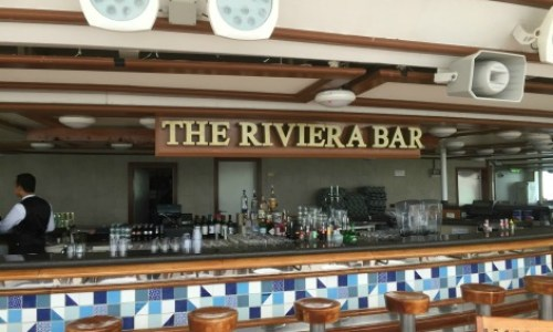 P&O Oceana - rivera bar on the sun deck #P&O #P&O Oceana P&O cruises #europeancruiseports #cruises #shiplife #sundeck #relaxation #sunshine
