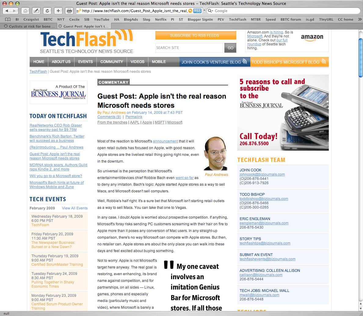 TechFlash gets online journalism