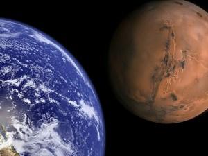 Earth and Mars to Scale Photo Credit: Bluedharma via Compfight cc
