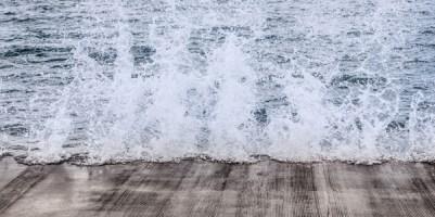 Crashing of the waves