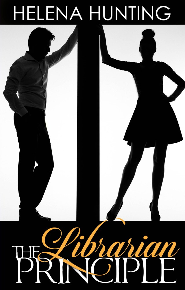 Book cover for the Librarian Principle, a new release romantic novel by Helena Hunting