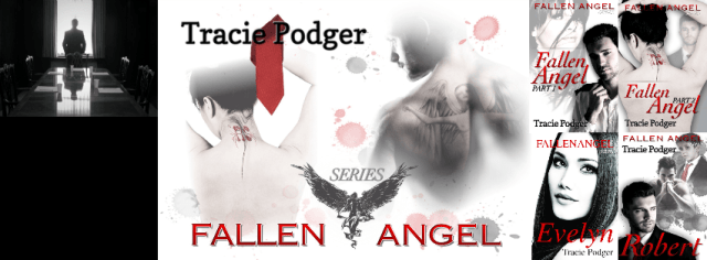 Photo depiction of books and scenes from the Fallen Angel Series by Tracie Podger