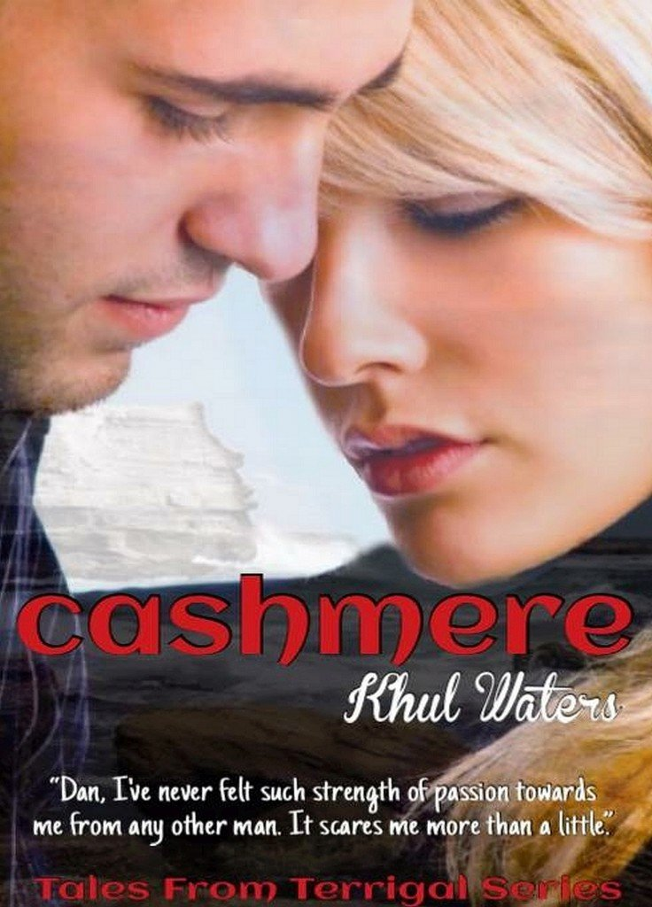 Photo of the cover of Cashmere, a new erotic romance by Australian author Kuhl Waters