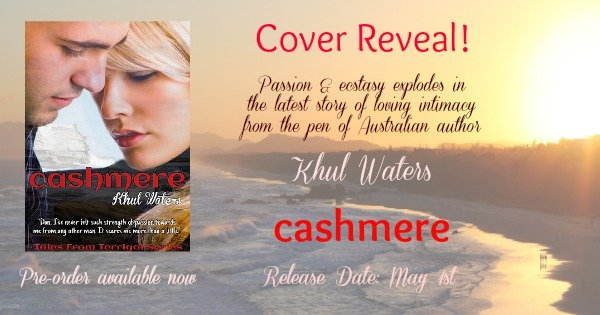 Photo of Lighthouse Beach in Australia, overlaid with the cover of Cashmere, a new erotic novel by Australian author Khul Waters