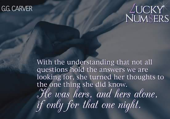Photo quote from Lucky Numbers, a new contemporary adult romance novel by author G G Carver