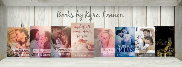 Photos of the covers of books written by Kyra Lennon