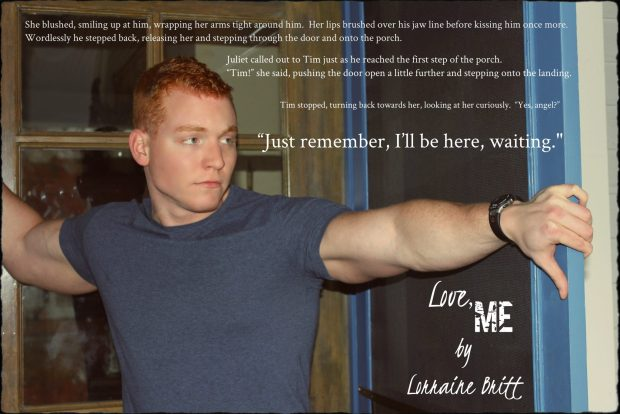 Teaser photo and quote from Love, Me by Lorraine Britt