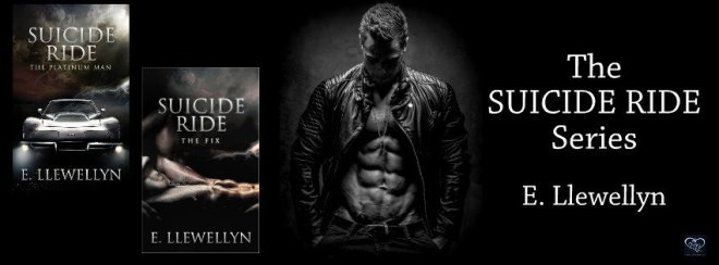 A photo banner ad for the Suicide Ride series, by E. Llewellyn
