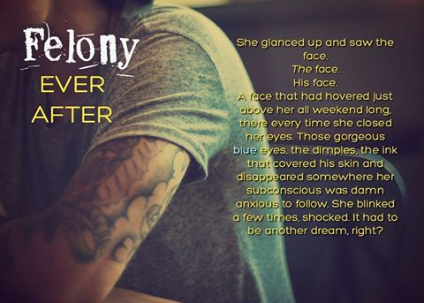 A photo and teaser quote from Felony Ever After