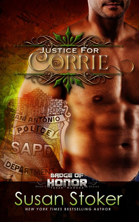 Book Cover Photo: Justice for Corrie, by Susan Stoker