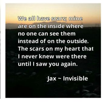 Teaser photo and quote from Invisible